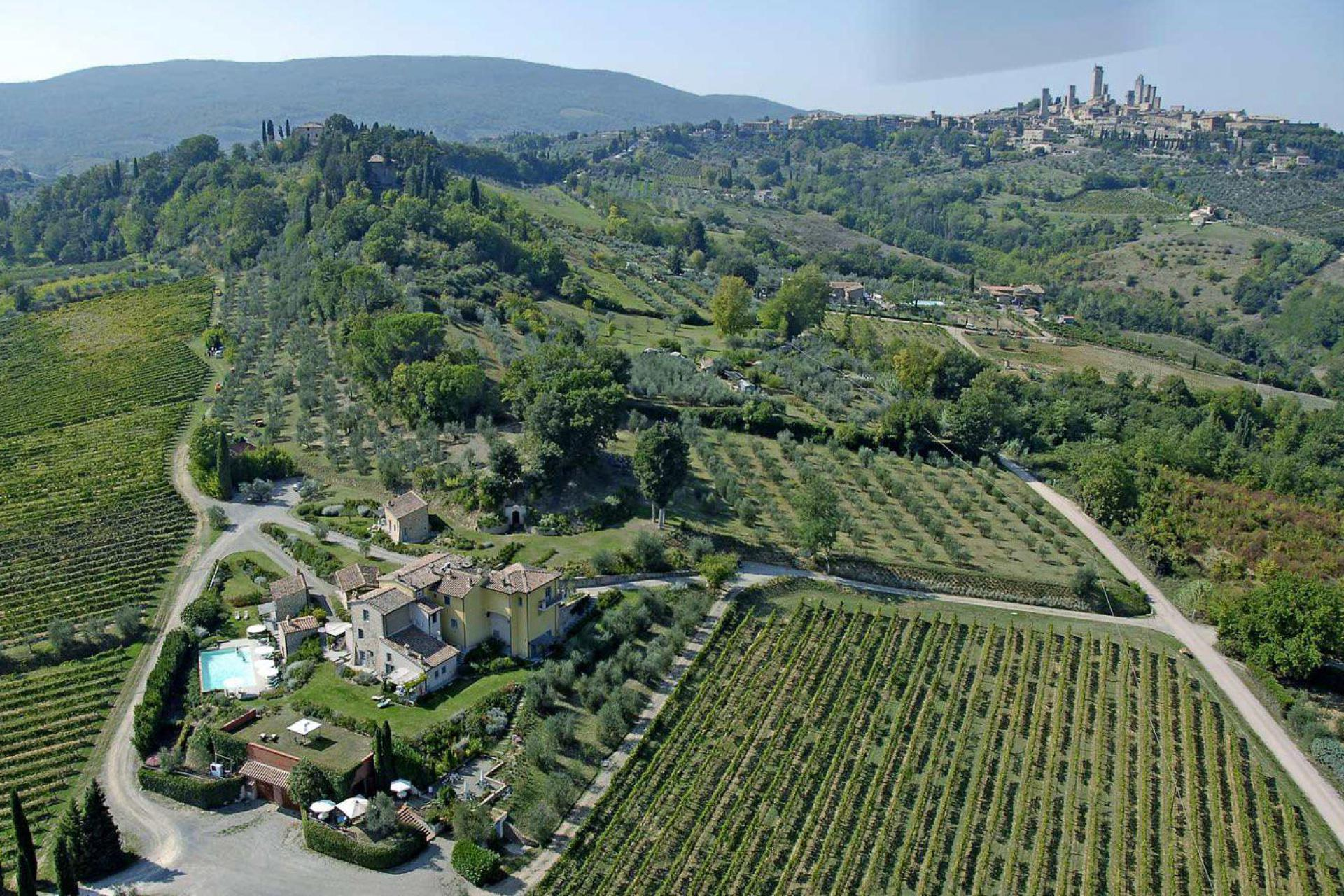 Agriturismo Toskana Kleiner Agriturismo mit Ausblick auf San Gimignano | myitalyselection.de