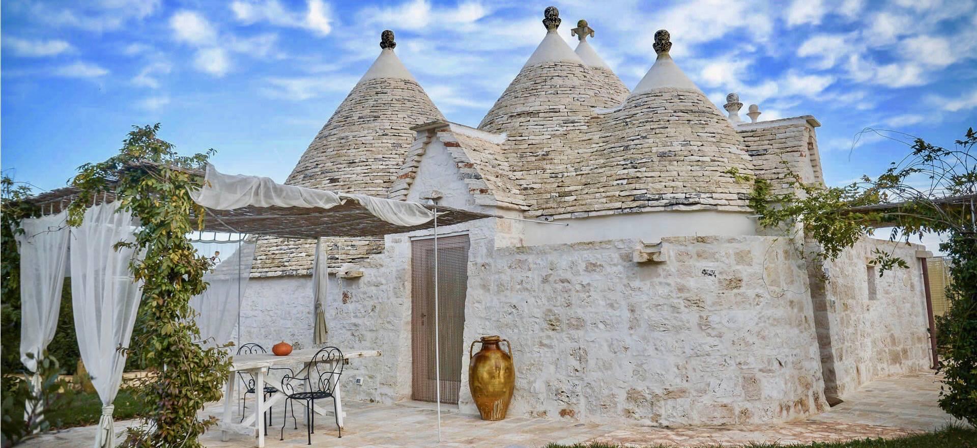Agriturismo Apulien Süditalienischen Gastfreundschaft in schönen Trulli